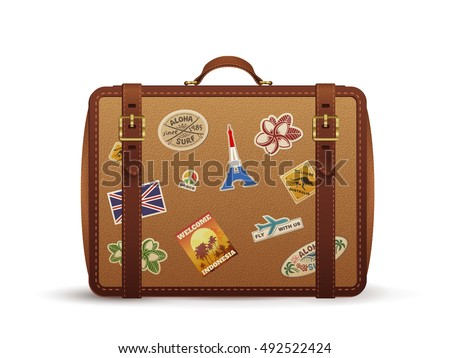 Suitcase Stickers Stock Images, Royalty-Free Images & Vectors ...