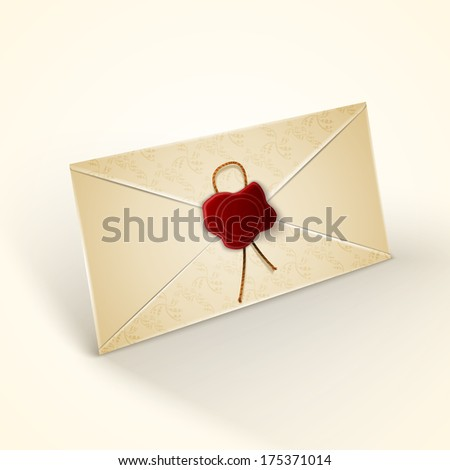 Old vintage style envelope - stock vector