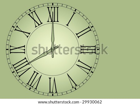 Old wall clock vector