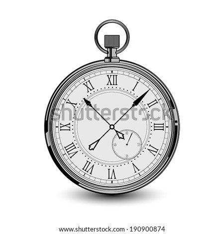 Old watch - stock vector