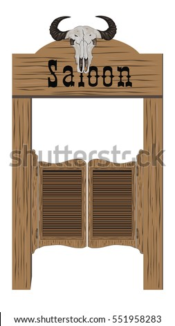 Old western saloon door. Vector icon. Retro saloon door icon. Wild west icon  sc 1 st  Shutterstock & Saloon Doors Stock Images Royalty-Free Images u0026 Vectors ... pezcame.com
