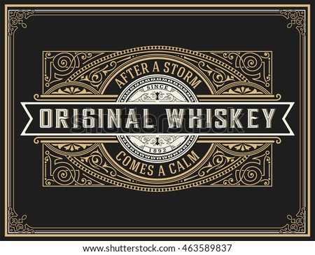 Old whiskey label.