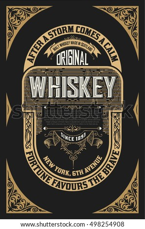 whiskey label template