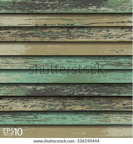 Old Wooden texture background. vector illustration. - stock vector
