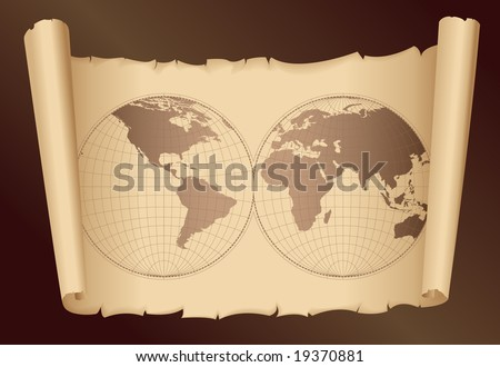 old world map - vector