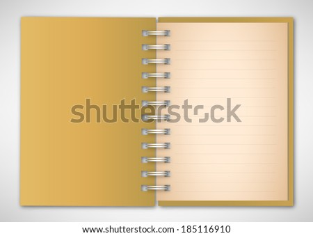 Old Yellow Cover Notebook Vector