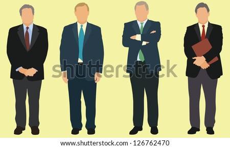 Older businessmen - stock vector