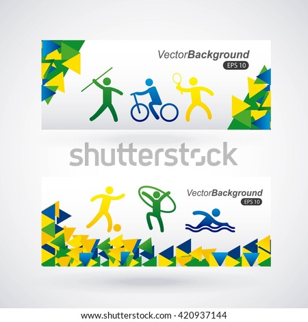 olimpics games design  - stock vector