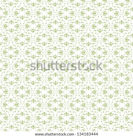 Olive floral background - stock vector