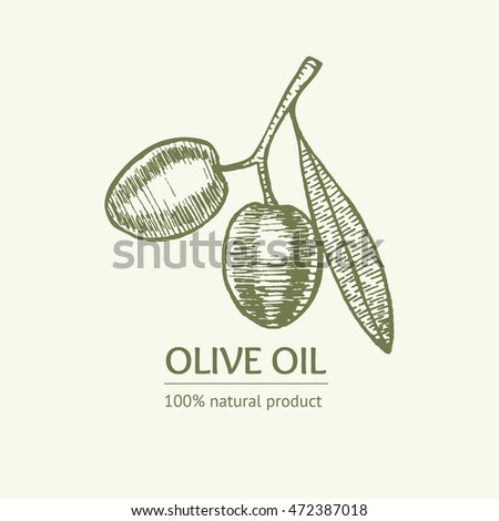 how to draw olive oil