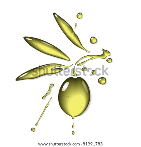 Olive oil - stock vector