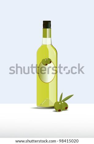 Olive Oil Bottle - stock vector