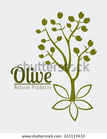Olive oil design over white background, vector illustration.