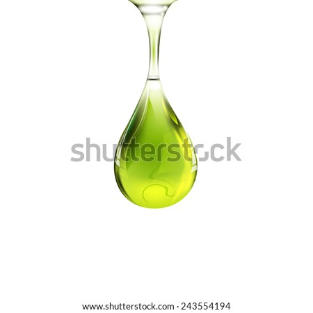 Olive oil drop. Vector eps 10 - stock vector