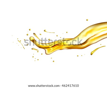 olive oil splashing isolated on white background
