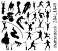 olympic sport silhouettes - stock vector