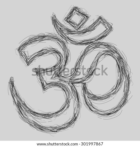 Om Sign Sketch (EPS10 Vector)