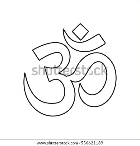 Om Symbol Sign Line Icon On Stock Vector 556621189 Shutterstock