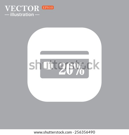 On a gray background gray icon,  Discount label, vector illustration, EPS 10 - stock vector