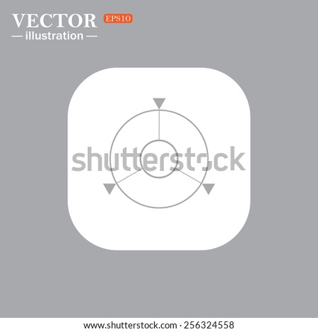 On a gray background gray icon,  GPS navigation,  vector illustration, EPS 10 - stock vector