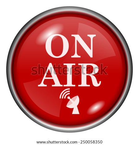 On air icon. Internet button on white background.  - stock vector