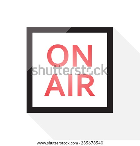 on air sign. - stock vector