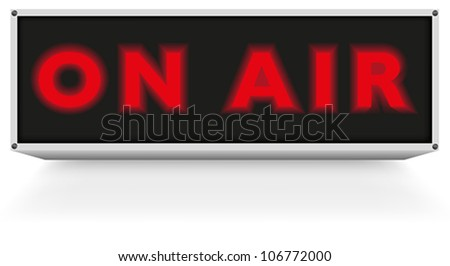 On Air Sign on White Background - stock vector