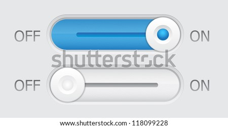 On and Off switch button - stock vector