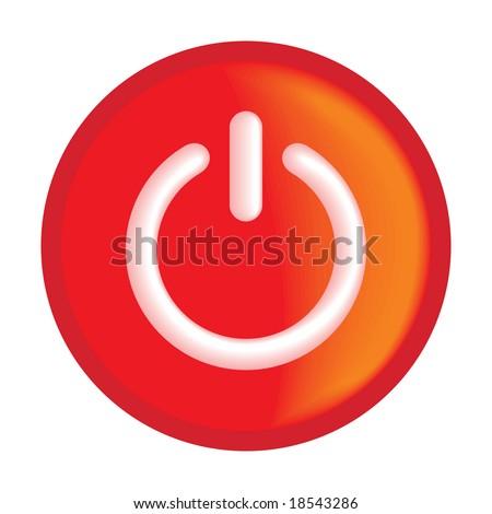 On button - stock vector