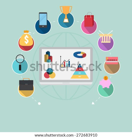 on line banking - stock vector