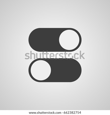 Toggle Switch Vector Icon On Off Stock Vector 304566155 ...