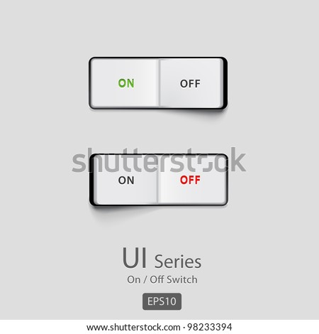 On/Off switch - stock vector