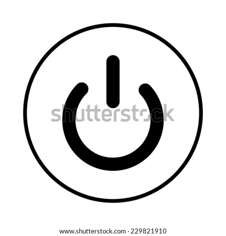On/Off switch icon - stock vector