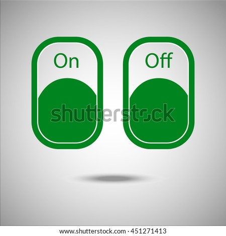 On Off Switch Icon Flat Style Grey Stock Photo Photo Vector