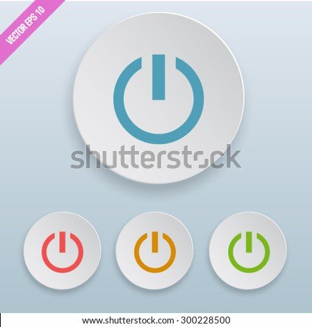 Onoff Switch Icon Power Symbol Stock Vector 300228500 Shutterstock
