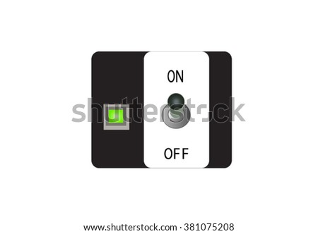 On-Off Switch on isolated white background