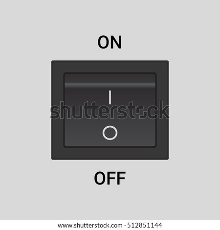 On Off switch - vector design button or icon, in off position