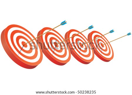 on target - stock vector