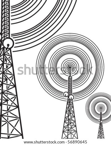 On the air (antenna) - stock vector
