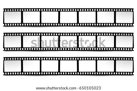 on white black white colors film stock vector royalty free