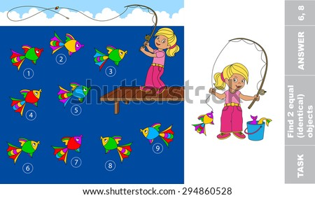 kids abc one cartoon baby fisher girl catch fish coloring book for children page to be