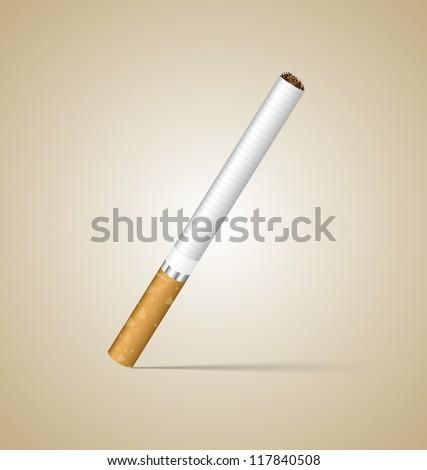 One Cigarette - stock vector