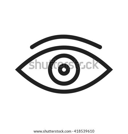 One Eye Stock Vector 2018 418539610 Shutterstock