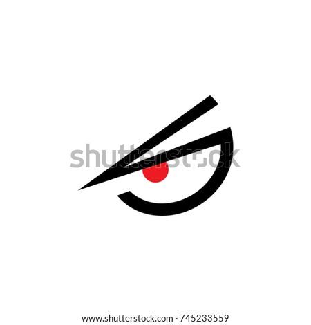 One Eye Angry Symbol Logo Vector Stock Vector 745233559 Shutterstock