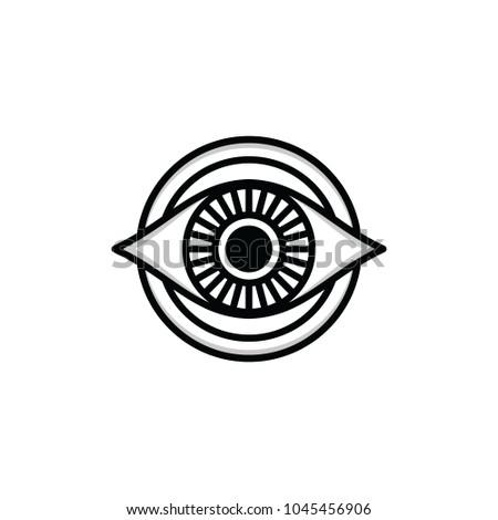 One Eye Sign Symbol Logo Logotype Stock Vector 1045456906 Shutterstock