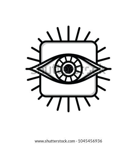 One Eye Sign Symbol Logo Logotype Stock Vector 1045456936 Shutterstock
