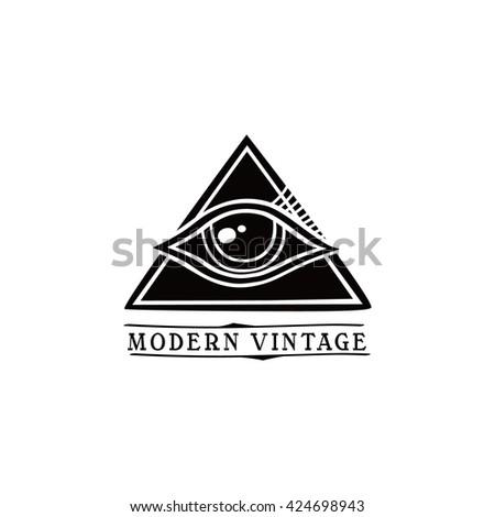 One Eye Symbol Theme Vector Art Stock Vector 424698943 Shutterstock