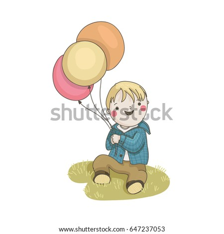 Smiling Balloon Blue Yellow Stock Images, Royalty-Free Images ...