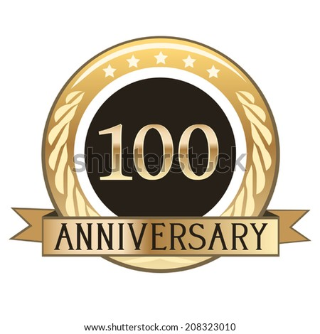 One Hundred Year Anniversary Seal - stock vector