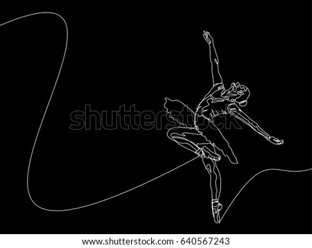One Line Art Animation : One line drawing continuous art stock vector 640567243